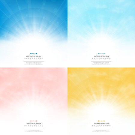 Set sun background with colors style pattern sky. You can use for ad, poster, artwork, cover design in bundle set. illustration vector eps10