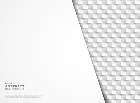 Abstract vector gray geometric paper cut mosaic design background. You can use for presentation template, artwork, ad, tech screen, copy space of text. illustration vector eps10 Banque d'images - 123249996