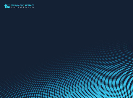 Abstract blue tech minimal dots geometric background. You can use for presentation, ad, poster, print, artwork. illustration vector eps10 Banque d'images - 123250002