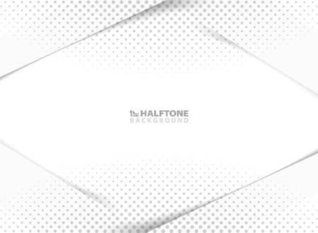Abstract new tech design of gray halftone decoration on white and gray background. You can use for ad, poster, website, layout, artwork, print, annual report, cover design. illustration vector eps10 Иллюстрация
