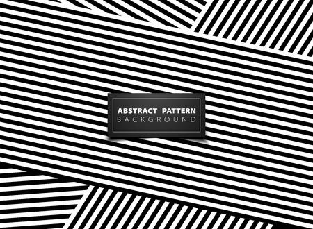 Abstraktes Schwarzweiss-Op-Art-Streifenlinienmusterdesign. Sie können für Anzeige, Poster, Grafik, Designelement, Cover-Hintergrund, Druck, Geschäftsbericht verwenden