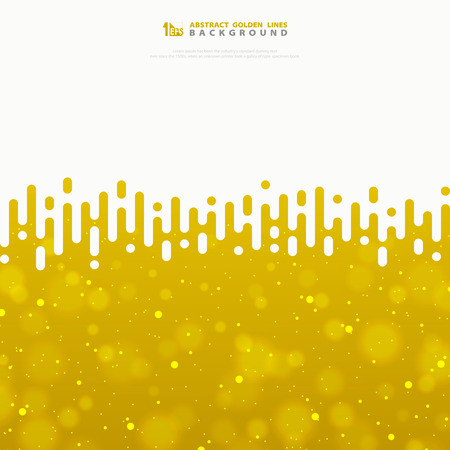 Abstract vector wavy stripe lines gold texture with glitters. You can use for special activity, ad, poster, artwork, cover design. illustration vector eps10 Stock Illustratie