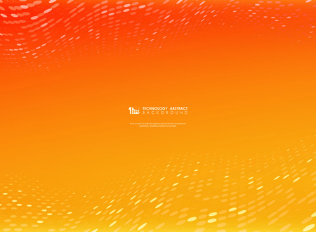 Abstract gradient vector orange and yellow color with  circle technology dot decoration. You can use for ad, poster, template, artwork design