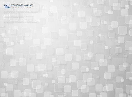 Futuristic small square pattern design of white  technology background. You can use for ad, poster, design artwork, print, annual report