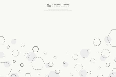 Abstract hexagonal technology design cover decoration background. You can use for poster, artwork design, tech template, annual report Ilustração