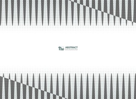 Abstract halftone of gray color trendy decoration with stripe line pattern background. You can use for presentation, ad, poster, brochure, print, artwork Ilustração