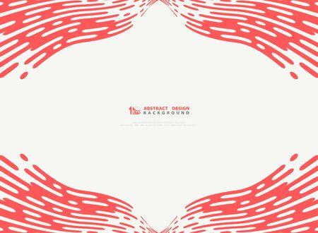 Abstract pink living coral stripe line pattern details artwork decoration design vector background. You can use for ad, poster, artwork, template design, annual report Ilustração