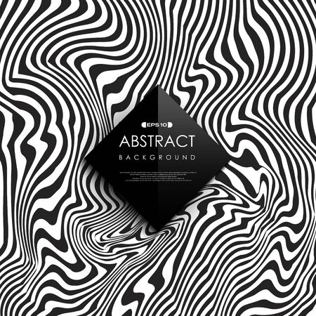 Abstract black and white free line pattern cover background. You can use for cover design, artwork, template, print, ad