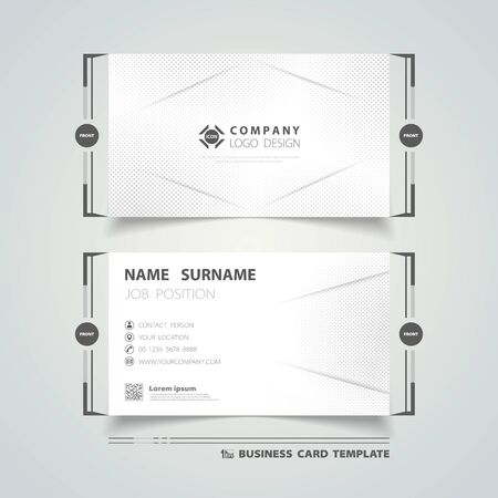 Abstract business name card corporate geometric halftone pattern design. You can use for business name card design, template, ad, advertise, print