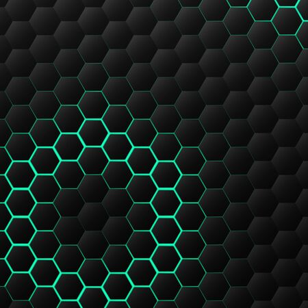 Abstract black hexagonal technology pattern design decoration background. You can use for ad, poster, artwork, template design, cover design, print, presentation