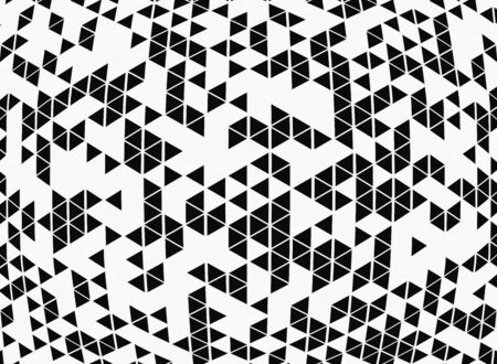 Abstract black and white geometric pattern design background of modern decoration. You can use for pattern design of ad, poster, artwork, template design