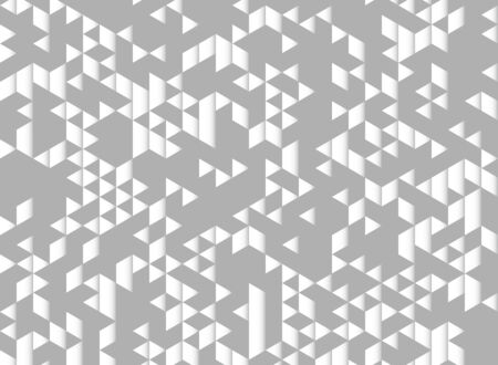 Abstract triangles pattern modern design gray and white decoration background. You can use for ad, poster, background, artwork, print