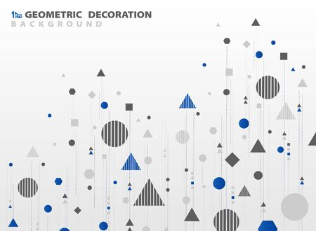 Abstract geometric pattern shape design of cover decoration background. You can use for ad, poster, artwork, template design
