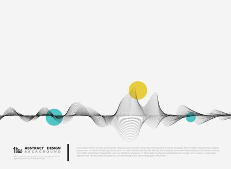 Abstract vector line decoration design minimal decoration. You can use for ad, poster, annual report, design element, poster.