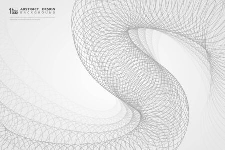 Abstract circle grey decoration pattern design background. You can use for ad, poster, artwork, template deign. illustration vector