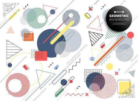 Abstract colorful geometric modern design shapes decoration background. You can use for cover trendy design, ad poster, artwork, headline, template artwork. illustration vector eps10 Ilustração