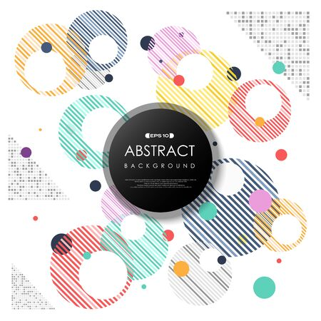 Abstract colorful bubbles modern design geometric of circle decoration background. You can use for cover trendy design, ad poster, artwork, headline, template artowork. illustration vector eps10