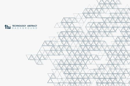Abstract triangle technology of modern design for cover background. You can use for print, ad, artwork, template, art element. illustration vector eps10