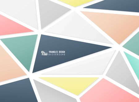 Abstract colors tech of triangles pattern design background. Decorate for template, ad, poster, headline, artwork. illustration vector eps10