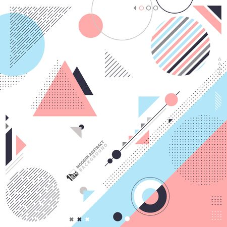 Abstract of geometric pattern design with elements decoration artwork. Decorate for poster, template, elements, ad, cover. illustration vector eps10