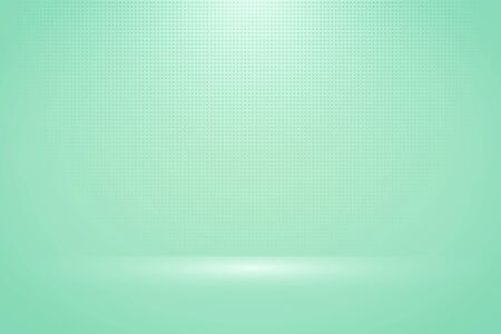 Abstract soft green mint mock up display background with halftone decoration artwork. Decorate for ad, poster, artwork, template design, print. illustration vector eps10