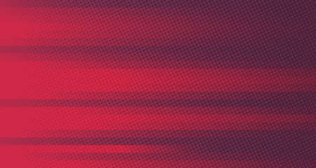 Abstract gradient red and purple lines pattern template design. Decorating with geometric circle halftone element one side of futuristic background. illustration vector