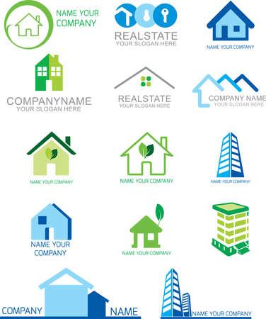 Real state logo design Templates & illustration vector art Ilustração