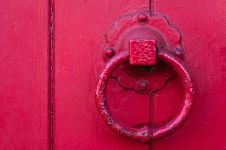Vintage architecture image of ancient door knocker Stock Photo