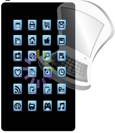 long term: Vector para la evoluci�n de la computaci�n personal, aumento de las tabletas y tel�fonos inteligentes