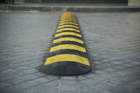 safety speed bump for vehicle to slow down