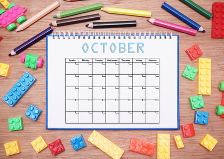 monthly: monthly planner. october