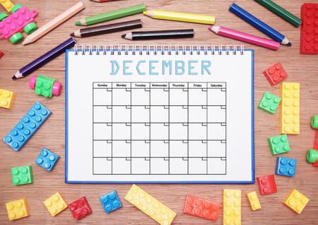 december: monthly planner. december