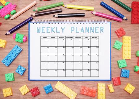 weekly planner Zdjęcie Seryjne