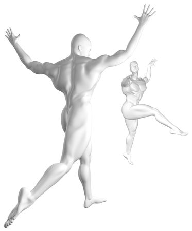 Cyber Dance Silver Stock Photo