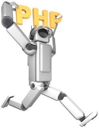 Cyber Helper PHP Stock Photo
