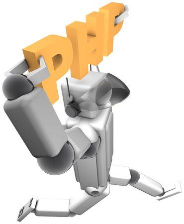 Cyber Helper PHP Stock Photo - 5740274
