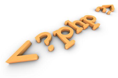 Headline of the php code Stock Photo - 5794791