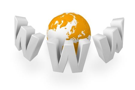The online network is surrounding the Earth Stock Photo