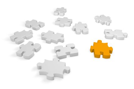 An elements of a jigsaw puzzle as the absent element. Stock Photo