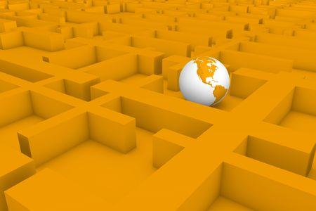 In the maze of the bureaucracy.