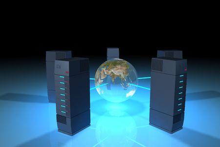 Servers, network discs.