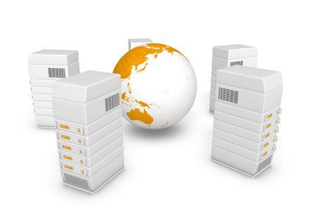 webhosting:   Servers, network discs.