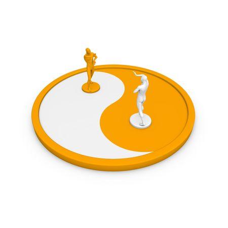 Yin Yang - philosophy and metaphysics. Stock Photo