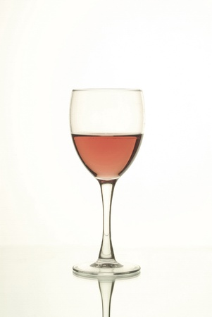 pink wine: Cup of pink wine