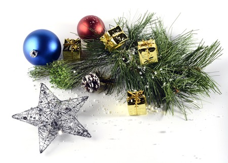 Still life with Christmas decorative items