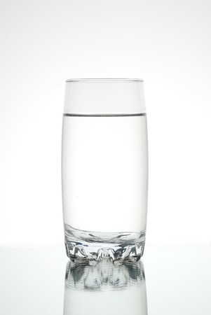 water s edge: Glass of water