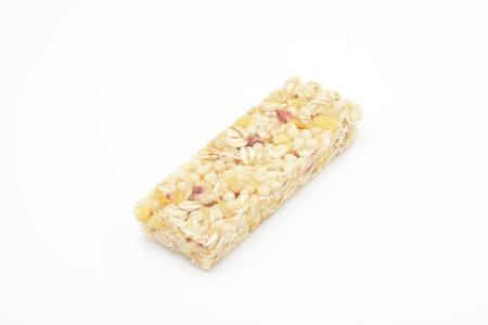 cereal bar: Cereal bar en el fondo blanco