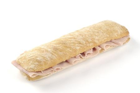Sándwich de jamón sobre fondo blanco Foto de archivo - 36801506