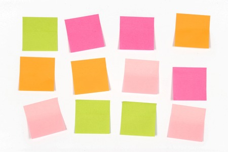 annotation: paper for notes of color on white background