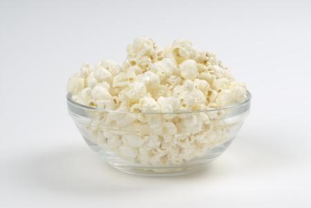 popcorn bowls: Bowl of popcorn on white background Stock Photo
